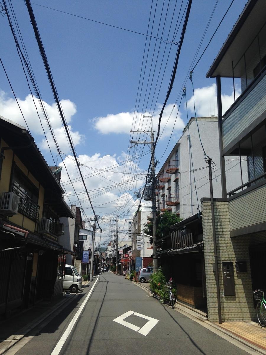 京都市内の住宅街(2014年5月撮影)