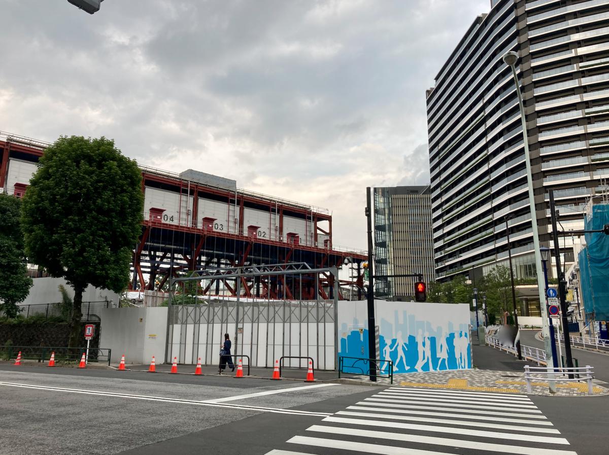 都営霞ヶ丘アパート跡地:2021年9月撮影