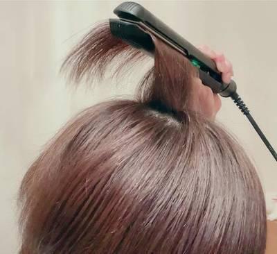 2ショートのヘアアイロン使い方のコツ