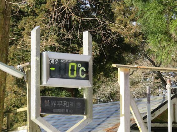 金剛山の山頂気温の写真