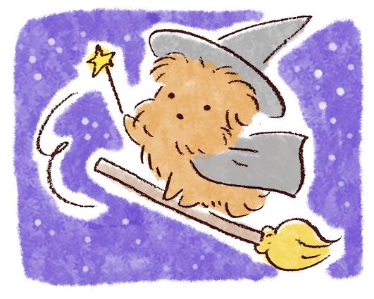 ハロウィンの犬イラスト