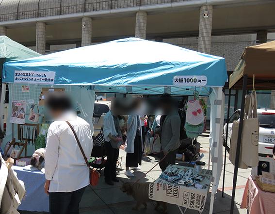 犬の洋服を売っているお店の写真