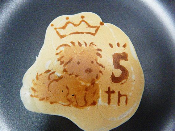 パンケーキアートの作り方