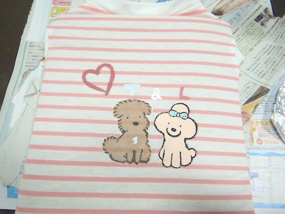 犬服にイラストを描く方法