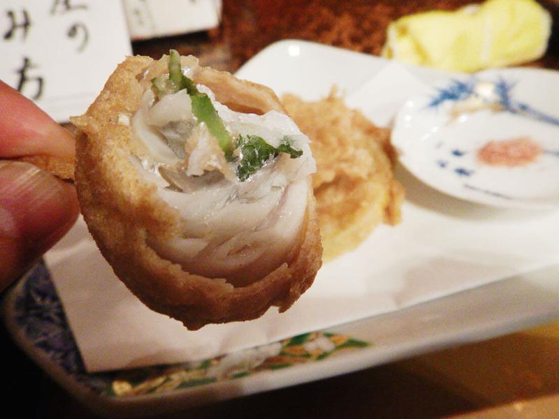 タチウオでシソを巻いた天ぷら