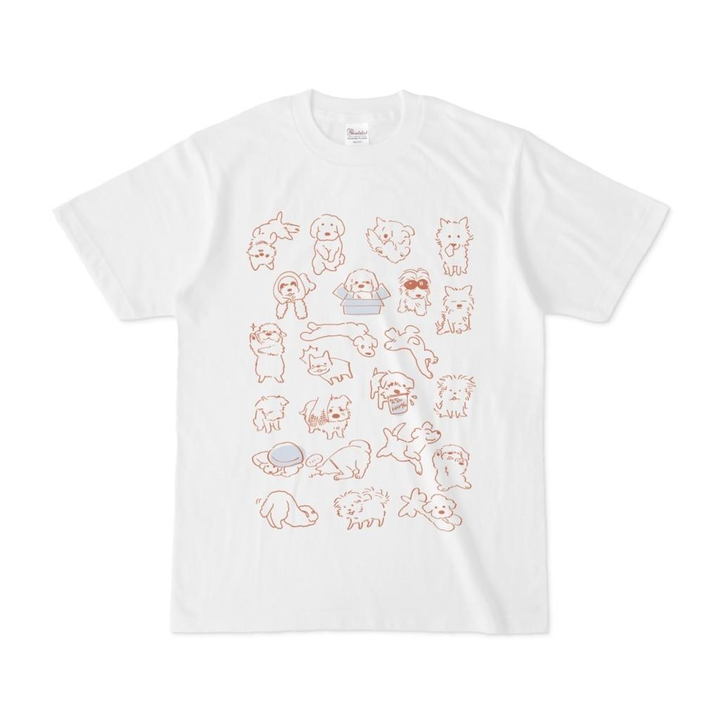 わんこイラストTシャツ