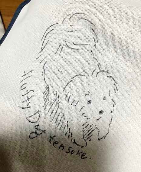 布用ペンで描いたイラスト