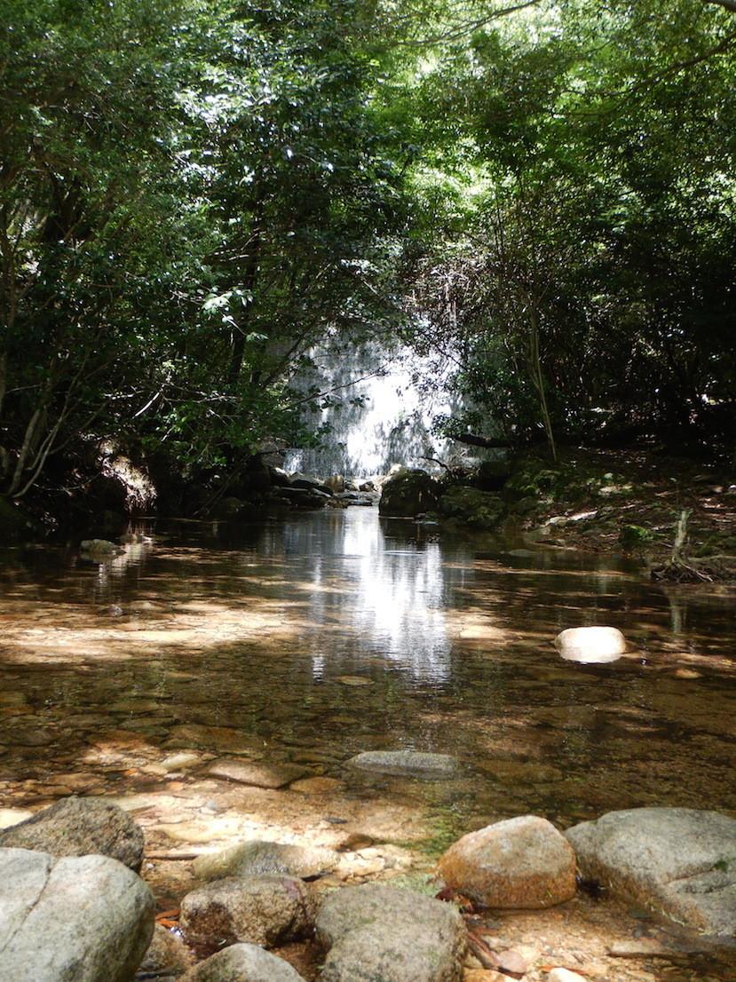 小さい人工的な滝