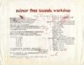 """1978年10月28日 """"minor free sounds workshop #1"""" -(a)"""