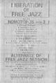 1976年12月28,29,31.1977年1月1日 LIBERATION OF FREE JAZZ