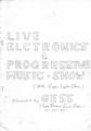 """1978年 GESS """"LIVE ELECTRONICS & PROGRESSIVE MUSIC・SHOW"""" - (表紙)"""