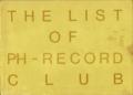 1987-1988 THE LIST OF PH-RECORD CLUB - 表紙(レンタルレコードリスト)