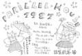 1987-1988年 高円寺 PARALLEL HOUSE 「年末年始営業のお知らせ」