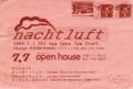 1989年7月7日 Nachtluft,ディスロケーションほか / openhouse(名古屋市今池)