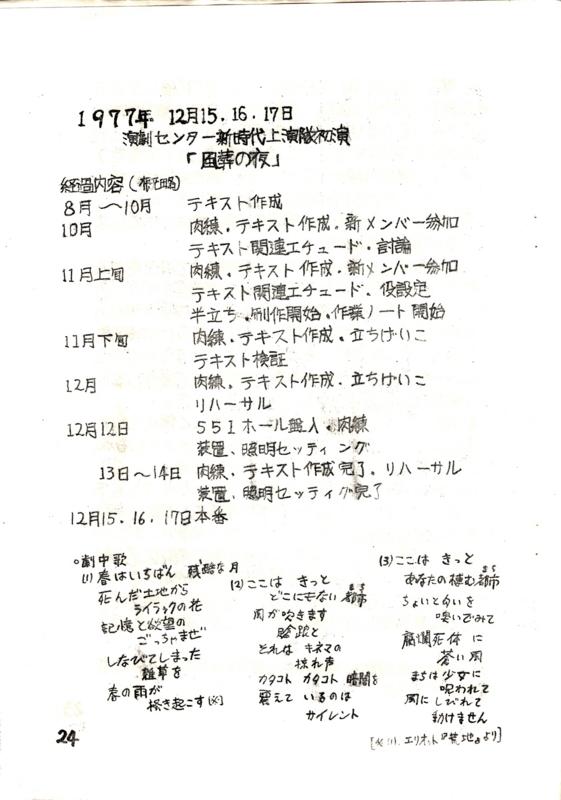 1978年3月18日 「新時代演劇 No.13」/ 演劇センター新時代 -(p. 24)