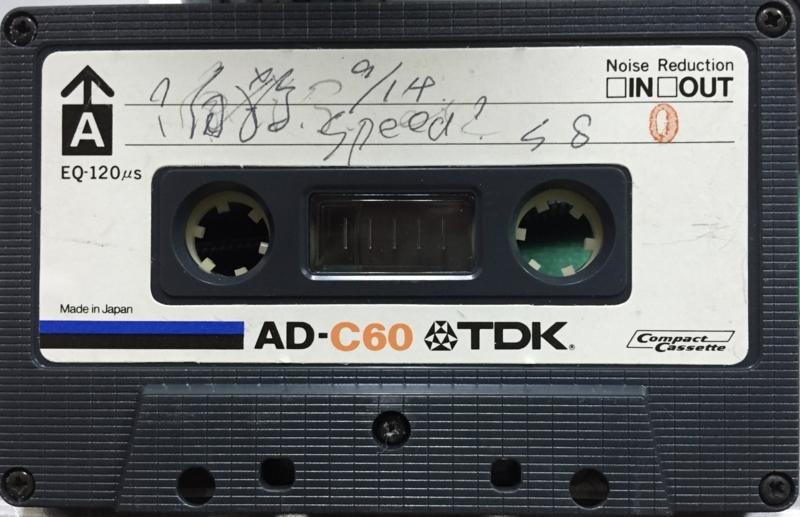 1978年9月14日 Speed(Live at Minor, w,Sex,自殺,Pain,Anarkiss〔ガセネタ+園田〕)