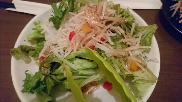 62日目夕食サラダ