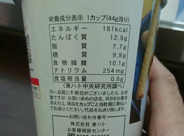 大豆スティック成分表