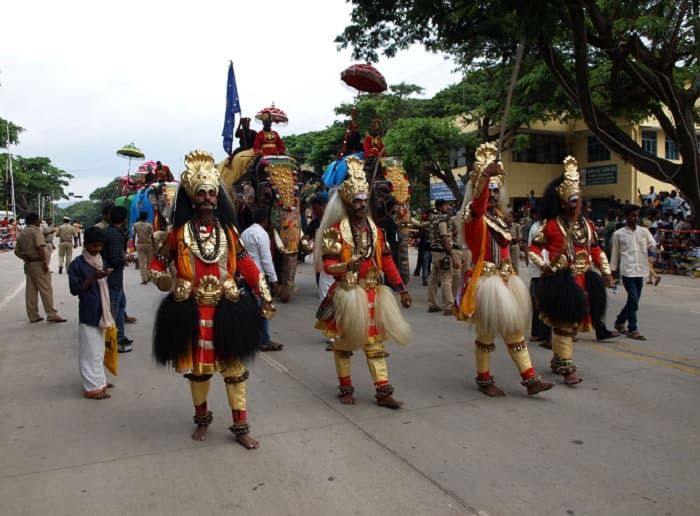 マイソールのダサラのパレードの様子