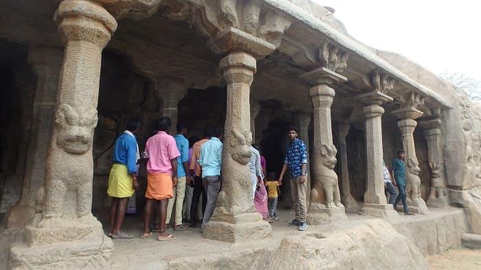 マハーバリプラム最大の石窟・パンチャパーンダバ石窟寺院