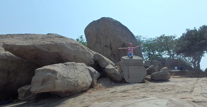 マハーバリプラムの公園にある巨岩