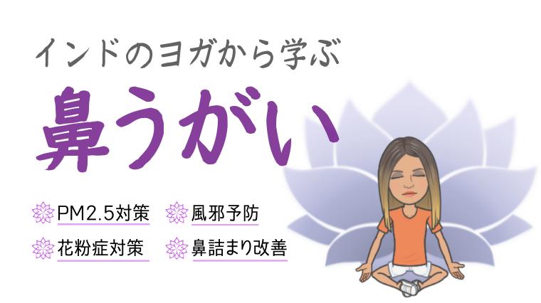 記事タイトル(【インドヨガ】鼻うがいで体の浄化大作戦!~風邪予防や大気汚染・花粉症対策にもGood!~)