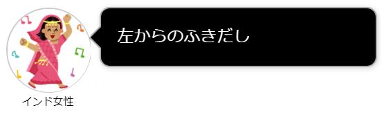 吹き出し内テキスト文字色変更(color)
