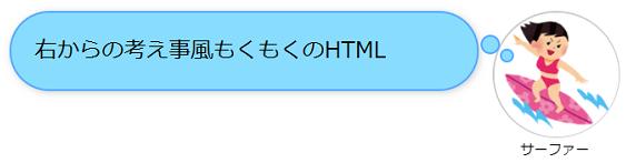 右からの考え事風もくもくのHTML