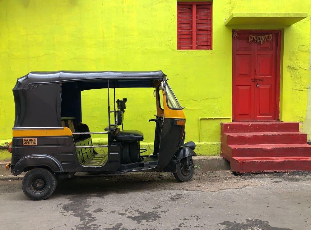 インドのオートリキシャ―