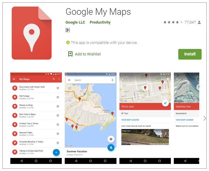 Googleマイマップの作り方(スマホ)①
