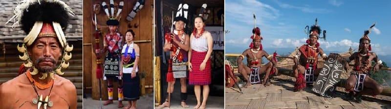 ナガランド州に住むナガ族の人々
