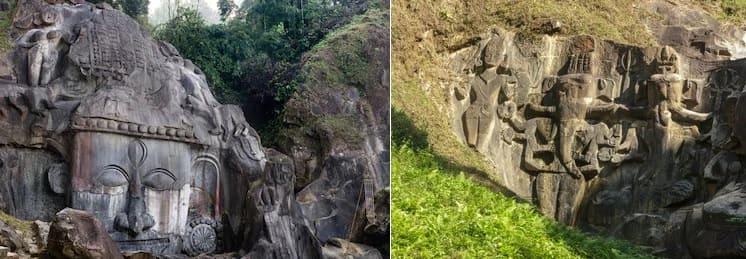 トリプラ州のウナコティ遺跡