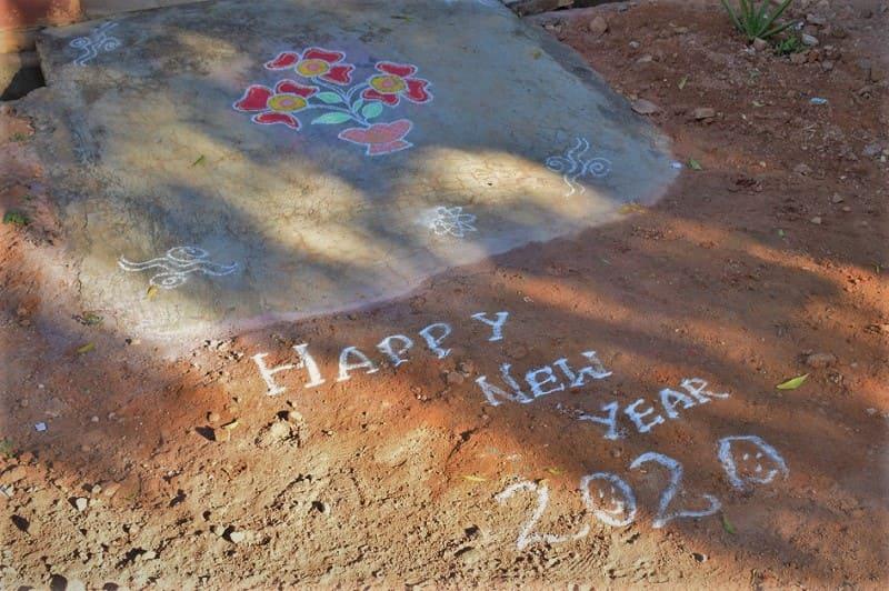 (8) 2020年新年のランゴリ(カラフル)