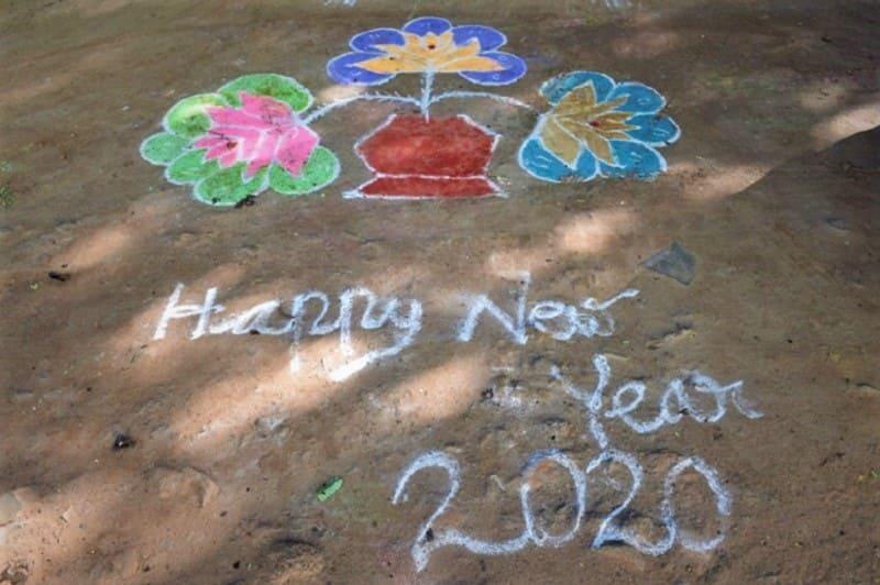 (9) 2020年新年のランゴリ(カラフル)