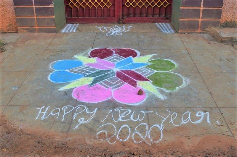 (17) 2020年新年のランゴリ(カラフル)