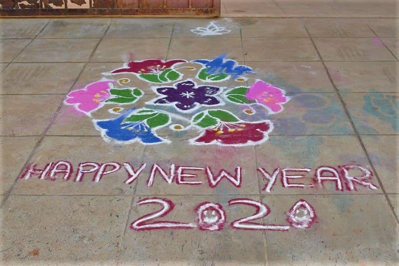 (14) 2020年新年のランゴリ(カラフル)