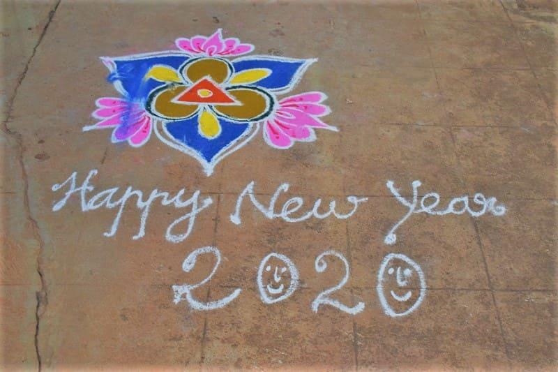 (19) 2020年新年のランゴリ(カラフル)