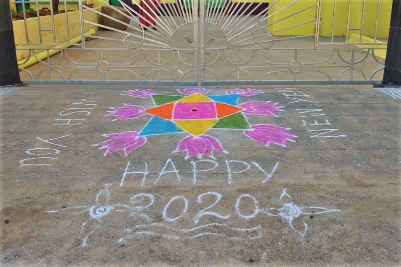 (18) 2020年新年のランゴリ(カラフル)