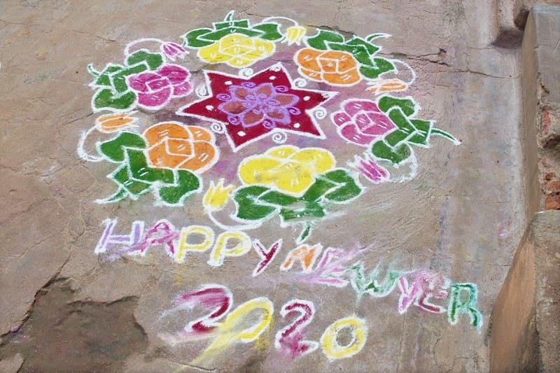 (13) 2020年新年のランゴリ(カラフル)
