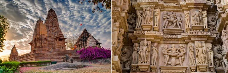 世界遺産に登録されているカジュラホの寺院群