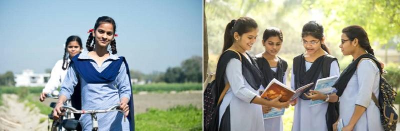 インドの女子学生の制服