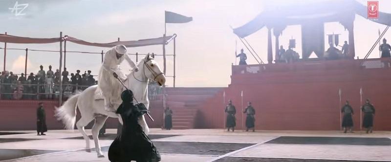 インド映画Tanhaji(タナジ)のシーン(人間チェス②)