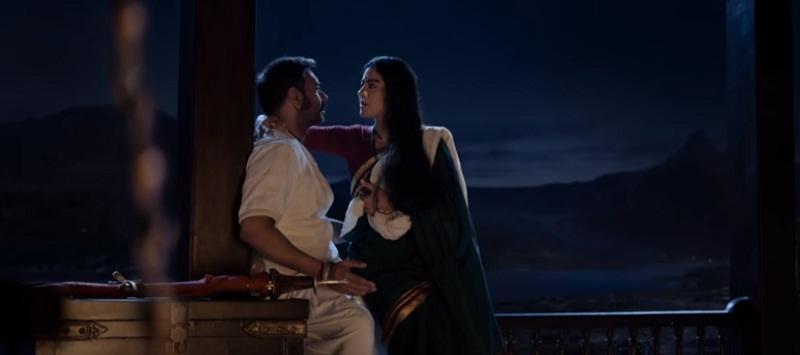 インド映画Tanhaji(タナジ)のシーン(AjayとKajol①)