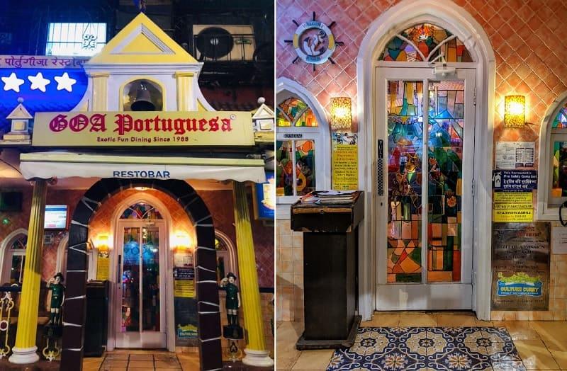 ムンバイのゴアレストラン(Goa Portuguesa Restaurant)の入り口