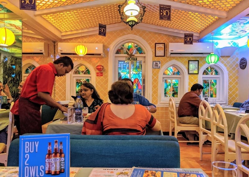 ムンバイのゴアポルトガルレストラン(Goa Portuguesa Restaurant)店内の様子①