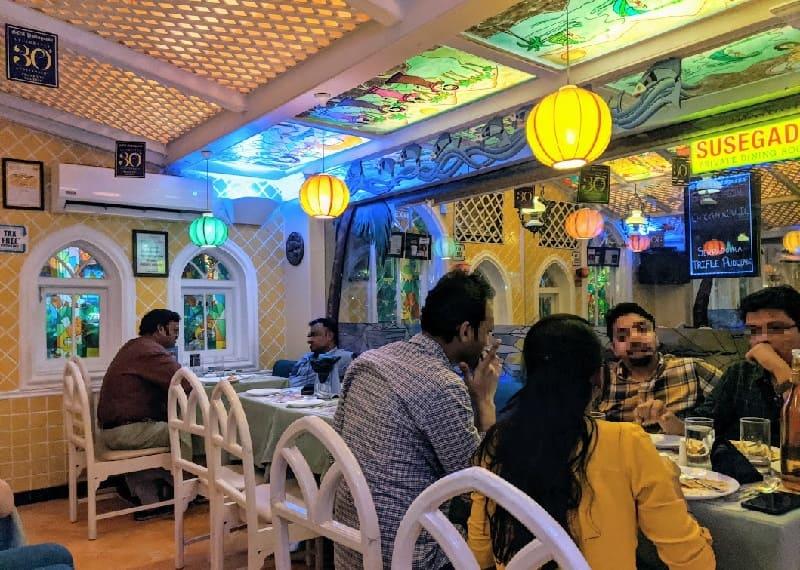 ムンバイのゴアポルトガルレストラン(Goa Portuguesa Restaurant)店内の様子②