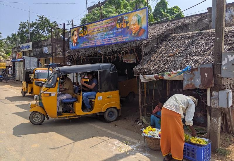 キライ村のオートリキシャースタンド