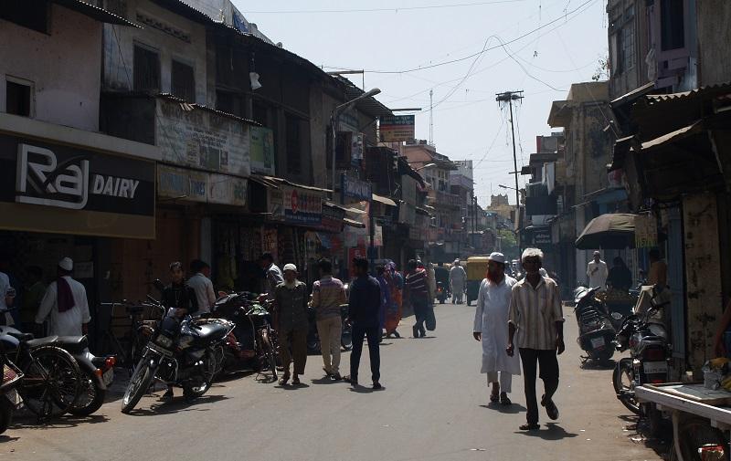 世界遺産にも登録されているアーメダバード旧市街の街並み