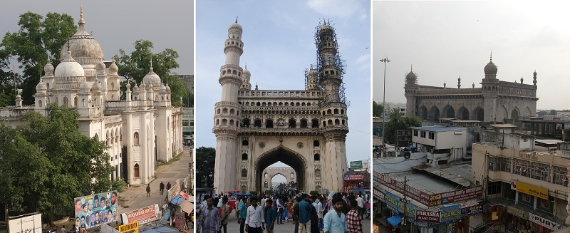ハイデラバード旧市街に残るイスラム・モニュメント