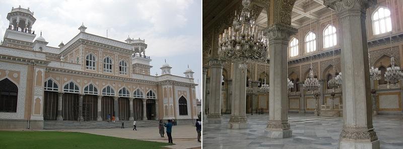 かつてハイデラバード一帯をおさめたニザム王国の王族が住んでいたチョウマハラ宮殿